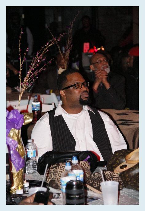 Bishop Hezekiah Walker enjoying his tribute at Urban Soul Cafe's Access Granted