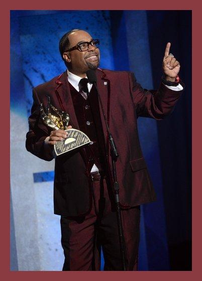 Kurt Carr accepting his James Cleveland Award during the Stellar Awards