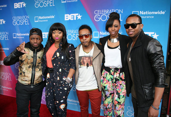 From Left to Right: Malik Spence, Ajanee Hambrick, Richard Tolbert, Ariel Malloy and Kenneth Williams of the band Livre