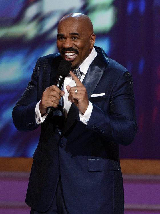 Comedian Steve Harvey was full of laughs!