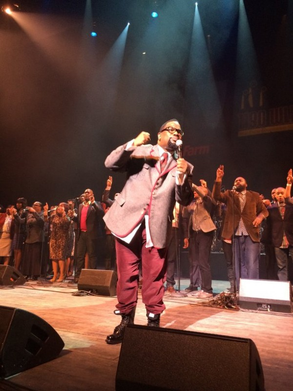 """Bishop Hez and LFC moves the crowd with their #1 hit """"Every Praise."""" Photo Credit: Hasan James"""