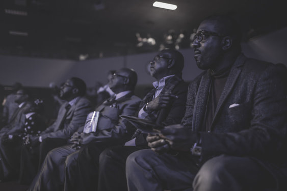 From Left to Right: Roderick Jemison, Dennis Cole, Mike Chandler, Hasan James enjoying the wonderful ministry of Pastor Marlon Lock.