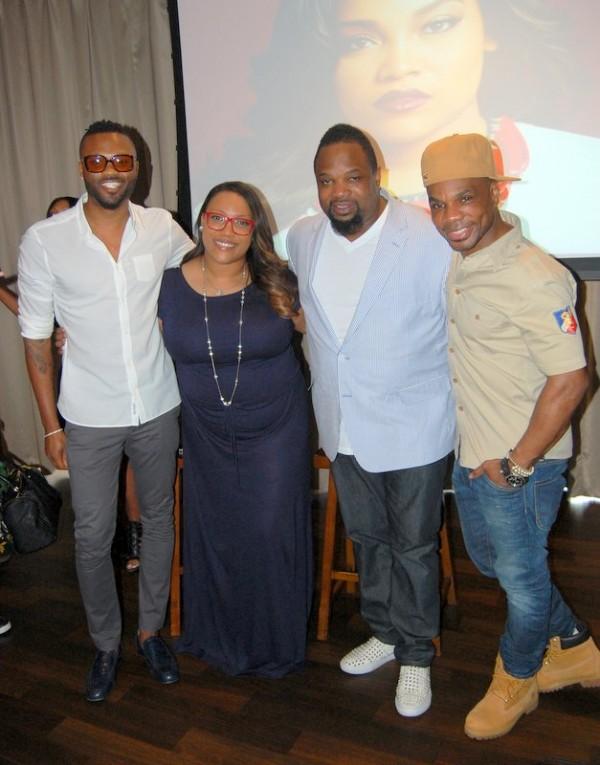 From L to R: Senior Director of Writer/Publisher Relations, Wardell Malloy, Tasha Page- Lockhart, Grammy Winner, Hezekiah Walker, Grammy Winner & Fo Yo Soul CEO, Kirk Franklin