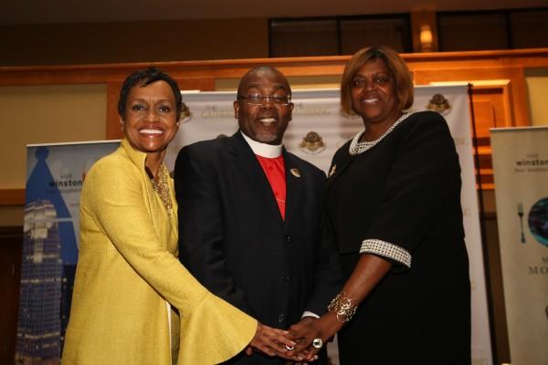 Judge Glenda Hatchett, Bishop Neil Ellis and Susan Johnson Cook