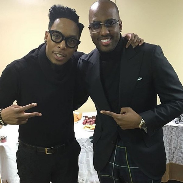 Deitrick Haddon and Isaac Carree caught up in Chicago at Fellowship Chicago's Christmas Concert that the two were performing at.
