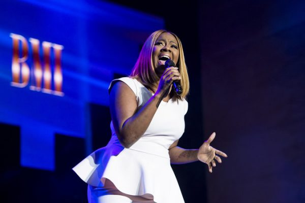 Le'Andria Johnson performs at the BMI Trailblazers of Gospel Music Honors at the Rialto Theatre on January 14, 2017, in Atlanta, GA. (Erika Goldring Photo)