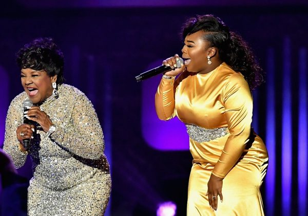 LAS VEGAS, NV - MARCH 25:  Singers Shirley Caesar (L) and Jekalyn Carr peform during the 32nd annual Stellar Gospel Music Awards at the Orleans Arena on March 25, 2017 in Las Vegas, Nevada.  (Photo by Earl Gibson III/Getty Images) *** Local Caption *** Shirley Caesar; Jekalyn Carr